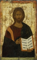 "Savior Pantocrator. From the Deesis (""Vysotsky"") row"