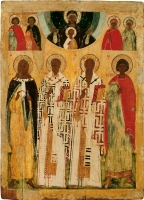 Selected Saints: prophet Elijah, saints Nicholas the Wonderworker, St. Basil the Great, martyr George.