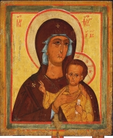 Nicholas the Wonderworker, St., Holy Virgin Hodegetria of Petrovsk. Processional icon