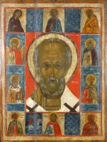 Saint Nicholas with the selected saints